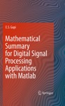Mathematical Summary For Digital Signal Processing Applications With Matlab
