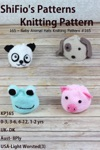 165 Baby Animal Hats Knitting Pattern 165