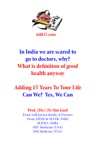 Adding 15 Years To Life Can We  Yes We Can- Definition Of Good Health
