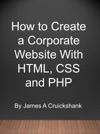 How To Create A Corporate Website With HTML CSS And PHP