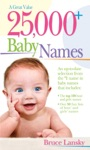 25000 Baby Names