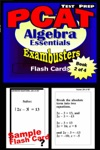 PCAT Test Prep Algebra Review--Exambusters Flash Cards--Workbook 2 Of 4