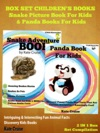Box Set Childrens Books Snake Pictures Book For Kids  Panda Books For Kids