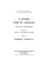 HERBERT HOWELLS: HYMN FOR ST CECILIA