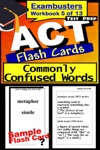 ACT Test Prep Commonly Confused Words Review--Exambusters Flash Cards--Workbook 5 Of 13