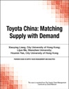 Toyota China Matching Supply With Demand