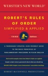 Websters New World Roberts Rules Of Order Simplified And Applied Third Edition