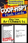 COOP-HSPT Test Prep Arithmetic Review--Exambusters Flash Cards--Workbook 2 Of 3