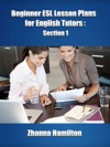 Beginner ESL Lesson Plans For English Tutors Section 1