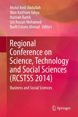 Regional Conference on Science Technology and Social Sciences RCSTSS 2014