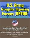 US Army Irregular Opposing Forces OPFOR Insurgents Guerrillas Criminals Noncombatants Terrorism Functional Tactics Techniques Procedures Hybrid Threat For Training