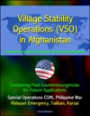 Village Stability Operations VSO In Afghanistan Comparing Past Counterinsurgencies For Future Applications - Special Operations COIN Philippine War Malayan Emergency Taliban Karzai