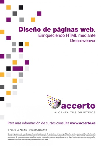 Diseo pginas web Enriqueciendo HTML mediante Dreamweaver