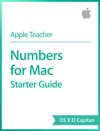 Numbers For Mac Starter Guide OS X El Capitan