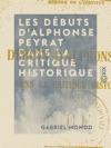 Les Dbuts DAlphonse Peyrat Dans La Critique Historique