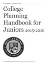 College  Planning  Handbook For Juniors 2015-2016