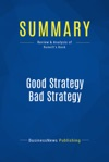 Summary Good Strategy Bad Strategy