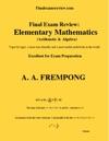Final Exam Review  Elementary Mathematics Arithmetic  Algebra