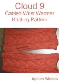 Cloud 9 Wrist Warmer Knitting Pattern - Jenn Wisbeck Book