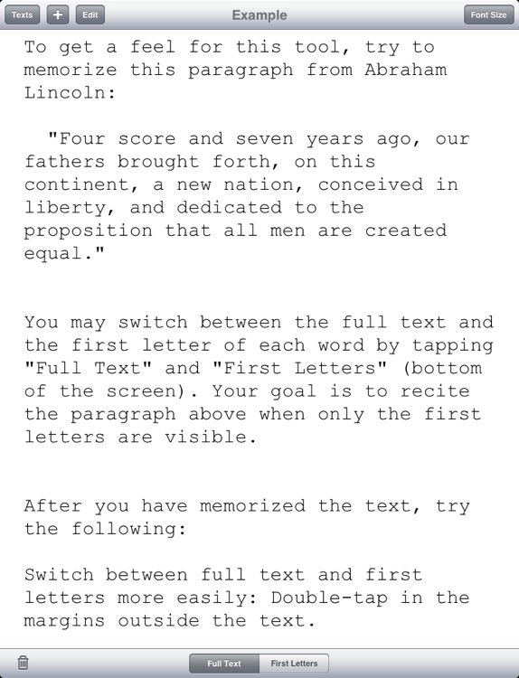 Text To First Letters By Geoff Hom