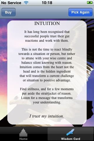 Wisdom Cards - Diana Cooper & Greg Suart screenshot 2