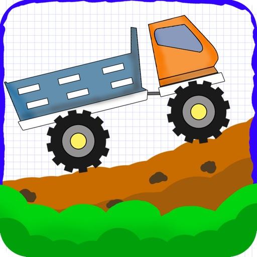 落書きの丘のトラック運転手 配信 - 無料ゲームをシュミレーション