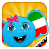 iPlay Italian: Kids Discover the World - children learn to speak a language through play activities: fun quizzes, flash card games, vocabulary letter spelling blocks and alphabet puzzles