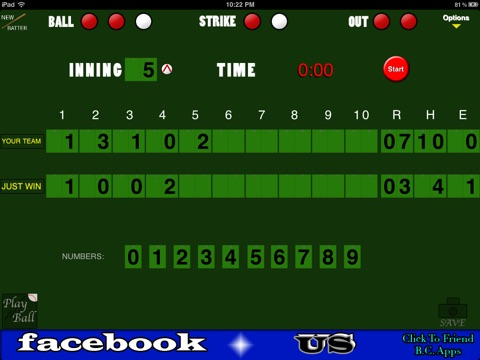 Baseball/Softball Scoreboard screenshot 2