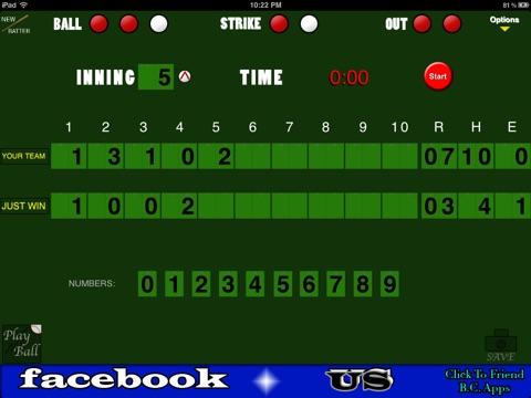 Baseball/Softball Scoreboard screenshot 2