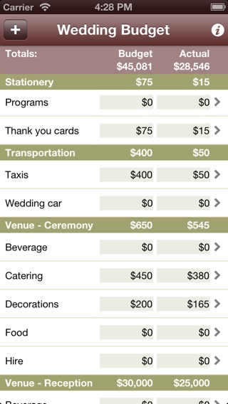 Wedding Budget Calculator On The App Store
