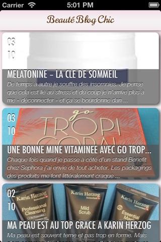 Beauté Blog Chic - Conseils maquillage et cosmétiques screenshot 2