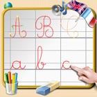 Aprenda a escrever letras cursivas do alfabeto - sons em Inglês e Francês icon