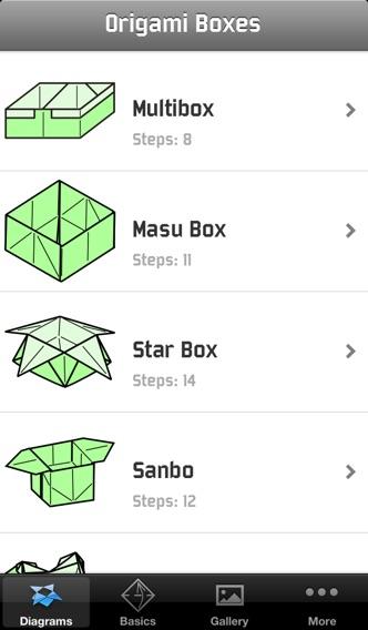 Screenshot #1 pour Boîtes Origami