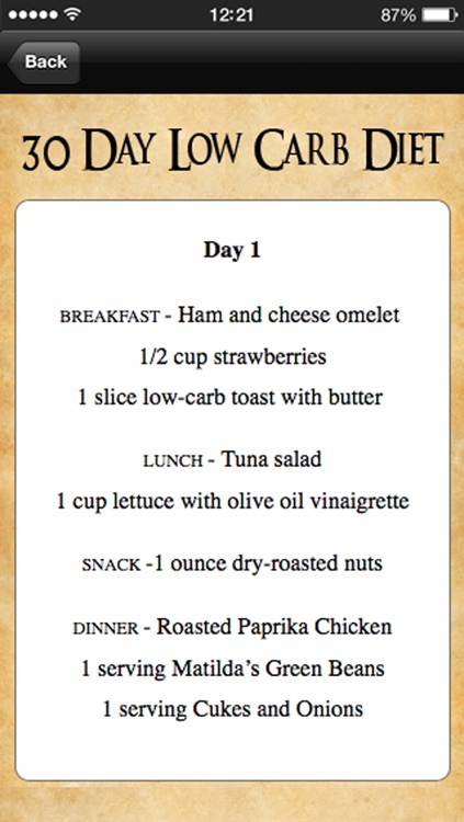 30 Day Low Carb Diet Meal Plan by Kinetix