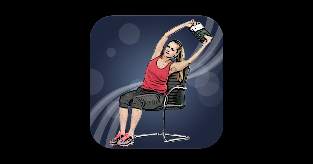exercices de gym femme au bureau dans l app store. Black Bedroom Furniture Sets. Home Design Ideas