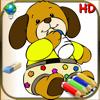 Livre de coloriage pour les enfants et les bébés pour iPad - 24 Coloriages faciles pour les plus petits avec des animaux, des clowns et plus encore