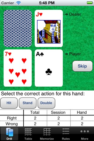 Blackjack Mentor screenshot 1