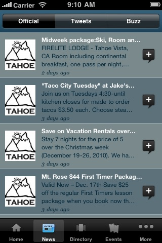 Lake Tahoe Official by Mobile Roadie