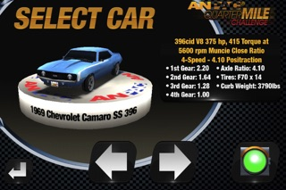 Screenshots of Quarter Mile Challenge Drag Race for iPhone