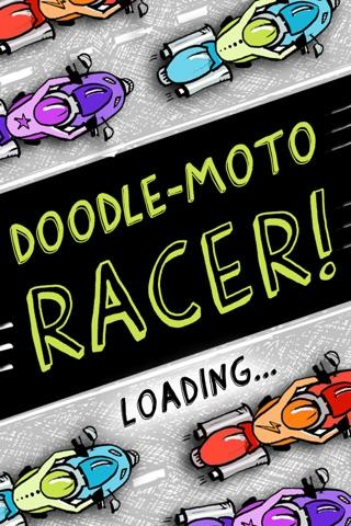 Doodle Moto Racer Free screenshot 1