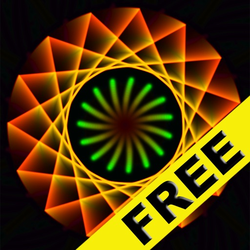 Free Visualizer of Geometrica - Wallpapers, Fireworks, Glow and Art iOS App