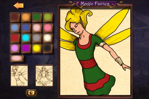 Magic Fairies - Fairy jigsaw and coloring book screenshot 4