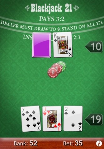 Blackjack 21 screenshot 1