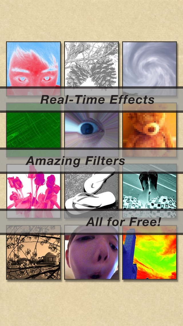 Screenshots of CamWow: Free photo booth effects live on camera! for iPhone
