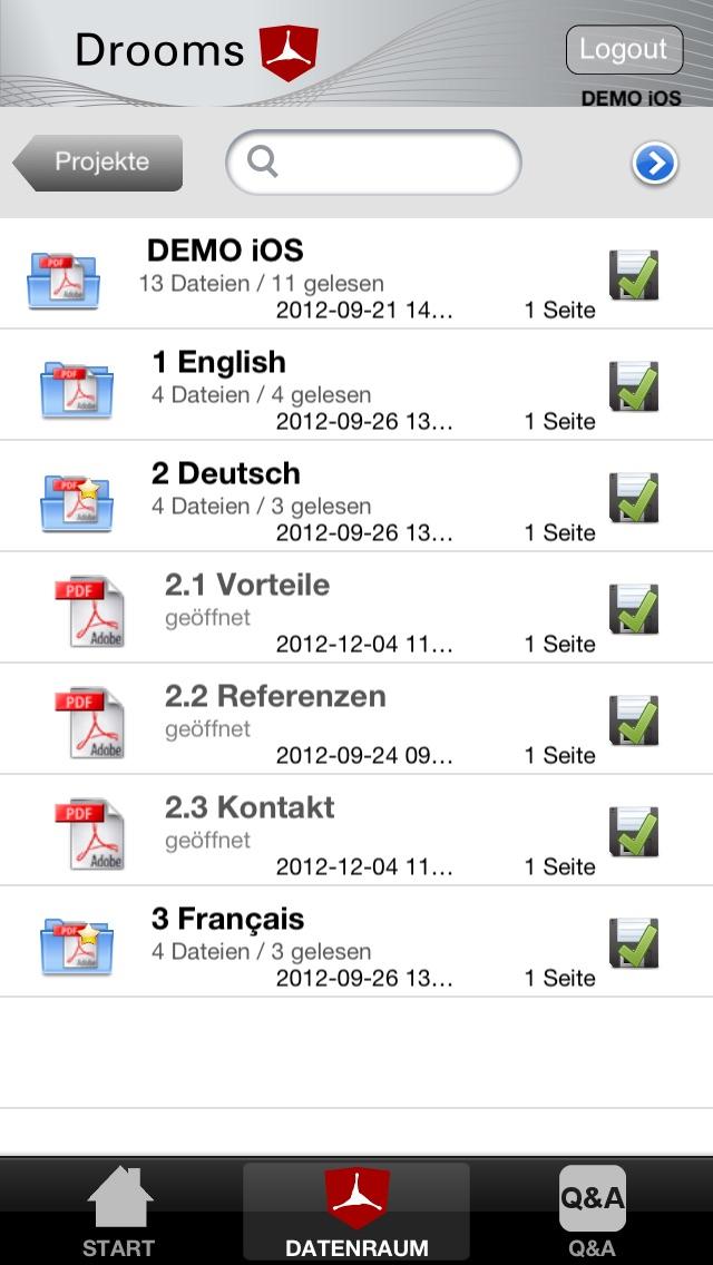 Screenshot von Drooms® für iPad und iPhone2