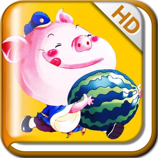 【儿童读物】AntGoGo_蚂蚁乐园双语HD故事_猪八戒吃西瓜