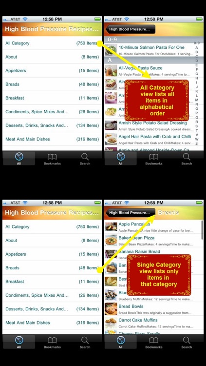 high blood pressure recipes food screenshot 1