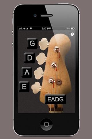ベースギターのチューナー screenshot1