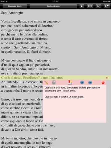 Risorgimento: Inni e poesie per iPad screenshot 1