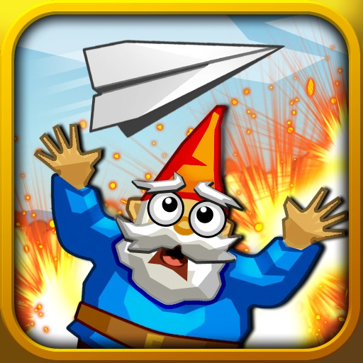 纸飞机大战小矮人:Paper Glider vs. Gnomes【趣味投掷】
